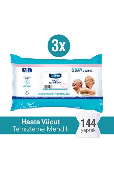 Yetişkin Vücut Temizleme Mendili 3'lü Paket 144 Yaprak