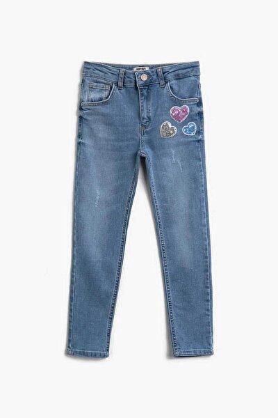 Kız Çocuk Orta Indigo Jeans 21YY59000621
