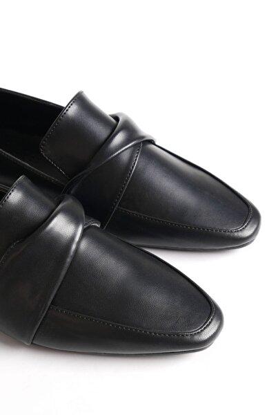 Kadın Siyah Loafer Ayakkabı Dolinva