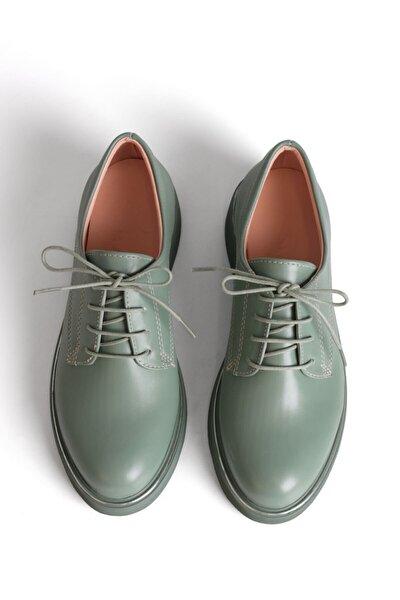 Terva Kadın Oxford Ayakkabıyeşil