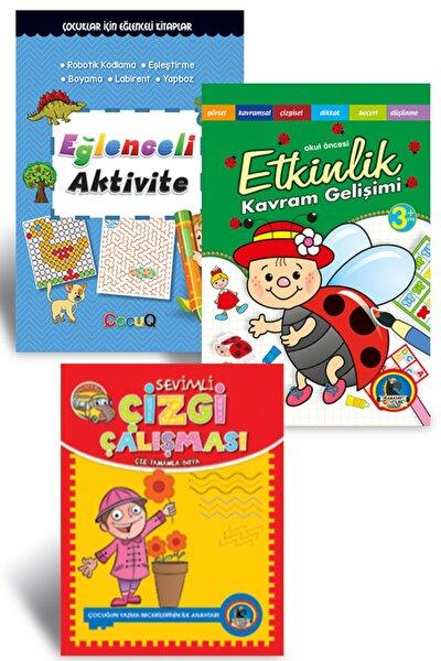 Ilk Etkinlik Setim-2 Çizgi Çalışması Aktivite, Etkinlik Seti 3-6 Yaş (3 Kitap Set) Dikkat Zeka