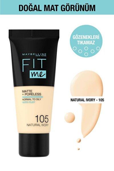 Fit Me Matte+poreless Fondöten - 105 Natural Ivory