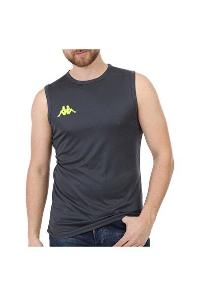Erkek Gri Kolsuz  Spor T-Shirt