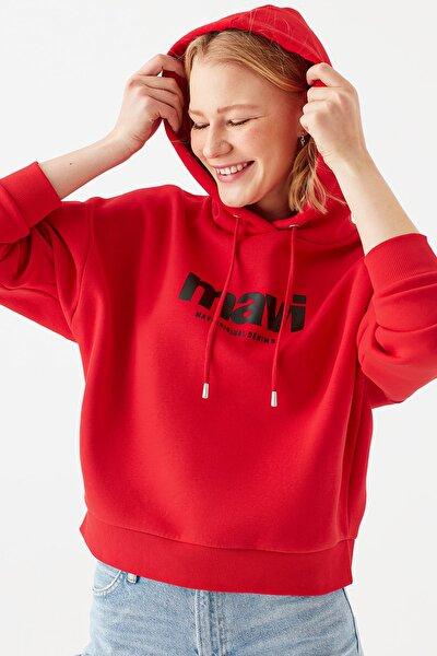Kadın Logo Baskılı Kırmızı Sweatshirt 168334-33099