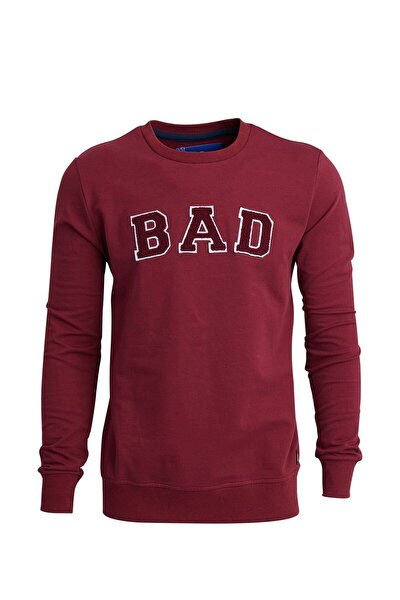 Bordo Erkek Sweatshırt BAD CONVEX MAROON