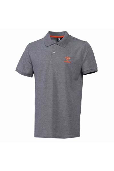 HMLLEON POLO T-SHIRT S/S Gri Erkek T-Shirt 101086234