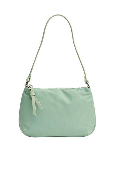 Kadın Yeşil Tutma Saplı Clutch Çanta