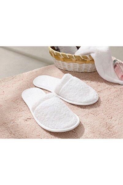 Kadın Beyaz Simple Pamuklu Banyo Terliği 36-40