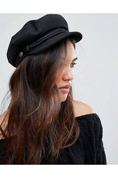 Bayan Kasket Şapka Siyah