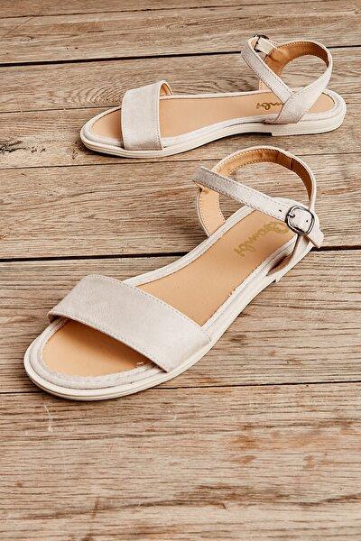 Bej Süet Kadın Sandalet L0652071265
