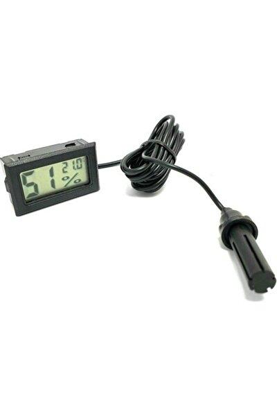 Dijital Nem Ölçer Problu Kuluçka Nem Higrometre Termometre