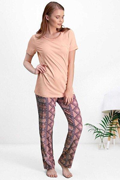 Kısa Kol Kadın Pijama 2 Li Takım 7525