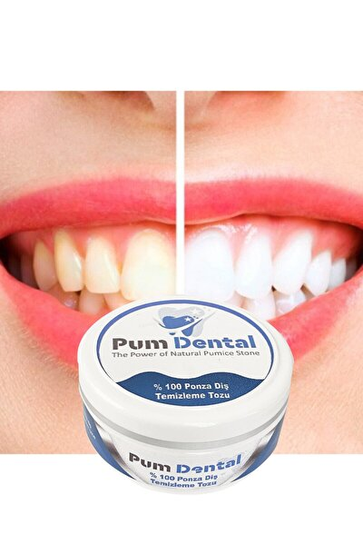 Pum Dental Diş Parlatma Tozu, Diş Parlatıcı, %100 Doğal Ve Saf, Ponza Diş Tozu