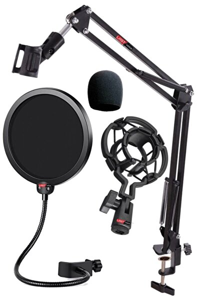 Nb39psmx Mikrofon Standı Shock Mount Pop Filter Sünger Seti