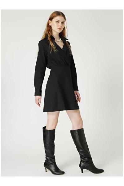 Kadın Siyah Düz Elbise