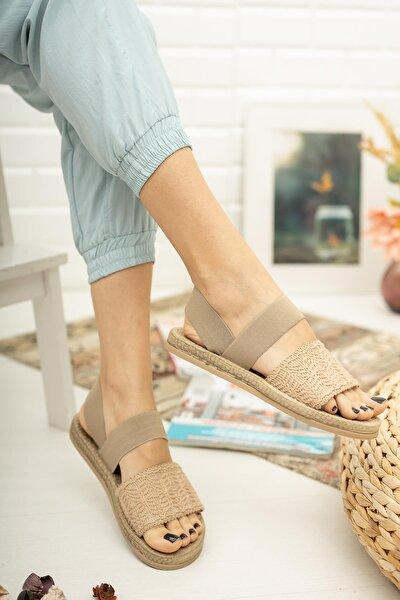 Mgnakıs03 Kadın Kahverengi Sandalet