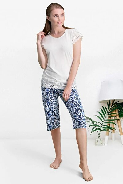Kapri Takım 2 Li Kadın Pijama Ev Kıyafeti 7553