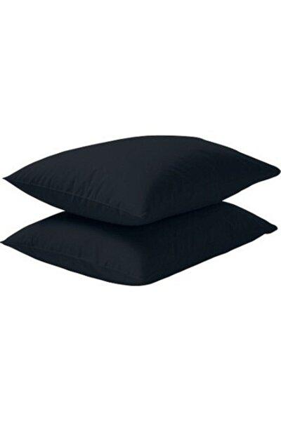 2'li 50x70 Renforce Siyah Yastık Kılıfı