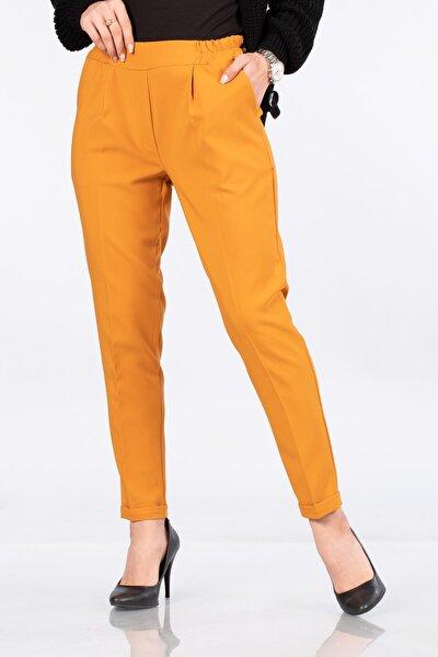 Beli Lastikli Duble Paça Pantolon-5069