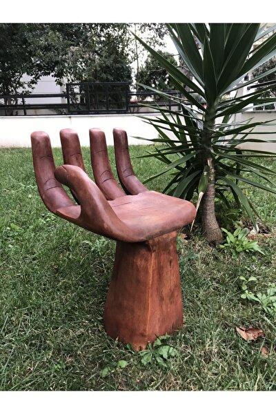 El Yapımı Ahşap El Şeklinde Küçük Sandalye
