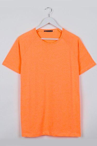 Neon Turuncu Reglan Kol Basic Unisex Tshirt