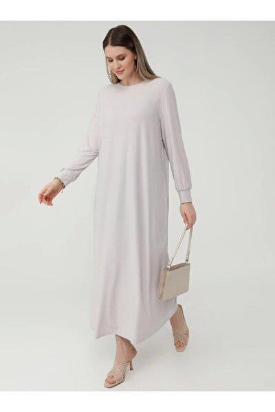 Kadın Kristal Basic Rahat Büyük Beden Elbise