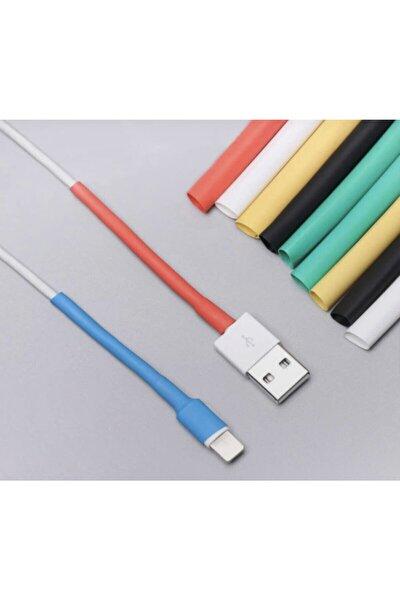 Iphone Uyumlu Şarj Kablosu Koruyucu Makaron 12 Adet 6 Cm 6 Farklı Renk