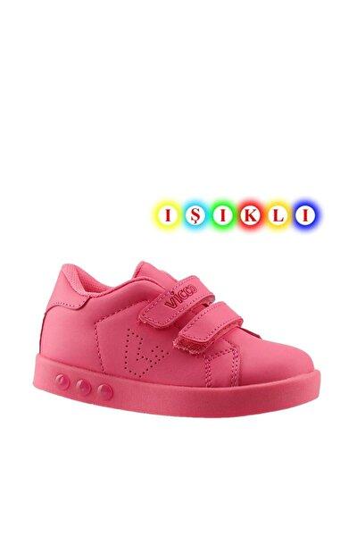 313.p19k.100 Oyo Kız Çocuk Işıklı Spor Ayakkabı Fuşya 26-30