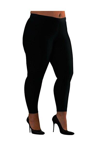 Kadın Likralı Pamuklu Siyah Uzun Tayt