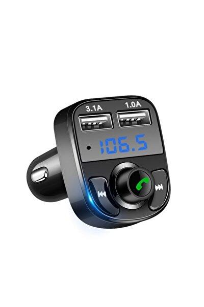Carx8 Araç Kiti Fm Transmitter Bluetooth 5.0 Micro Sd Usb Şarj Oto Müzik Çalar