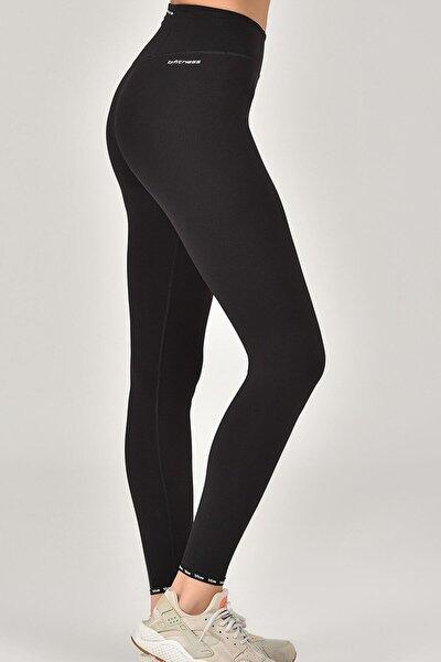 Siyah Sporcu Kadın Tayt Fw-1510