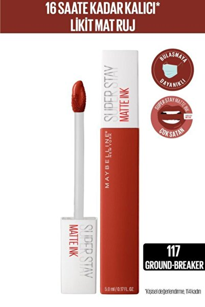 Super Stay Matte Ink City Edition Likit Mat Ruj - 117 Ground-breaker