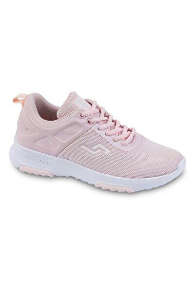 24879 Pembe Fileli Ortopedik Kadın Spor Ayakkabısı.