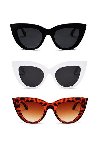Kadın Cat Eye 3 Lü Set Güneş Gözlüğü