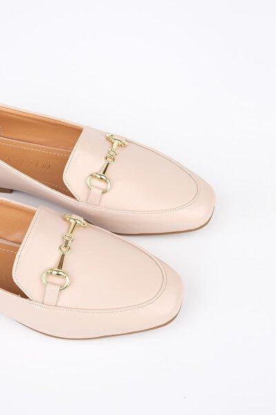Kadın Bej Loafer Ayakkabı Bekla