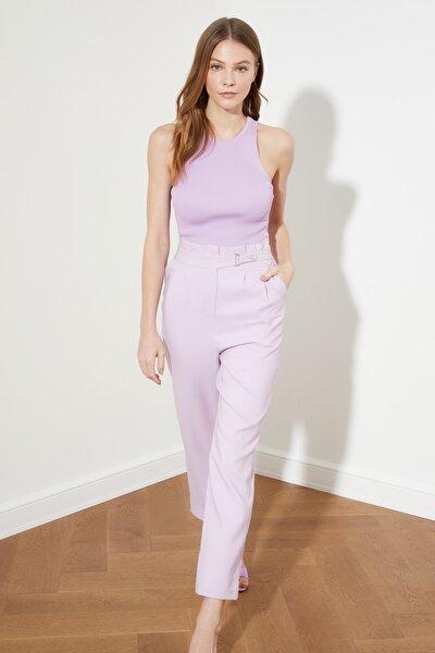 Lila Kemer Detaylı Pantolon TWOSS20PL0131