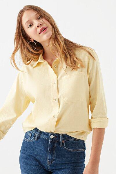 Tek Cepli Sarı Gömlek