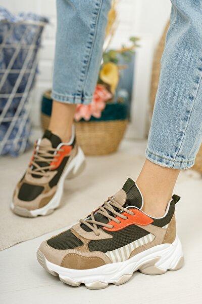 Kadın Vizon Haki Spor Ayakkabı