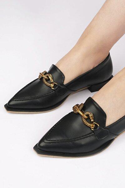 Kadın Siyah Loafer Ayakkabı Tolira