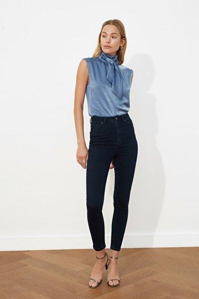 Lacivert Yüksek Bel Skinny Jeans TWOSS21JE0034