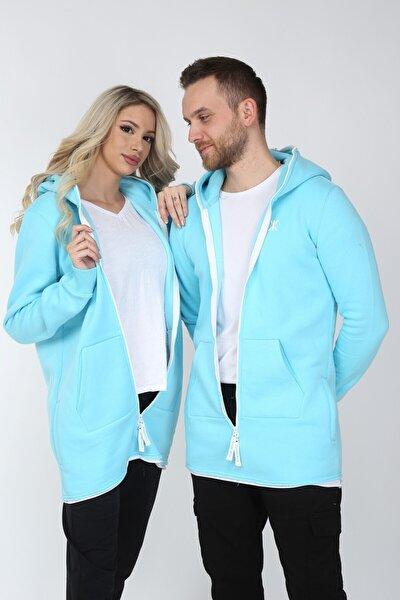 Özel 3 Iplik Kumaş Kapüşonlu 4 Cep Detaylı Sevgili Kombini Oversize Sweatshirt (1 Adet Fiyatıdır)