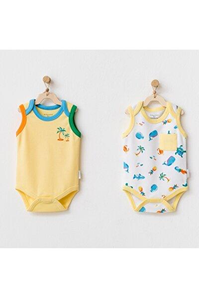 Unisex Bebek Sarı Body Body Vests Play Tıme 2 Parça