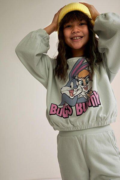 Kız Çocuk Bugs Bunny Lisanslı Sweatshirt T5322A621SP