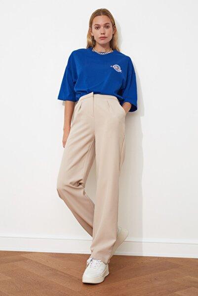 Taş Düz Kesim Pileli Pantolon TWOSS21PL0155