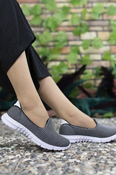 Kadın Kırık Beyaz Sneaker Ayakkabı 0012901
