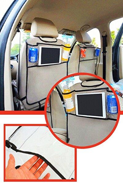 Araba Koltuk Arkası Şeffaf Koruyucu Kılıf Tablet Tutucu Organizer Şeffaf Tablet Kılıfı