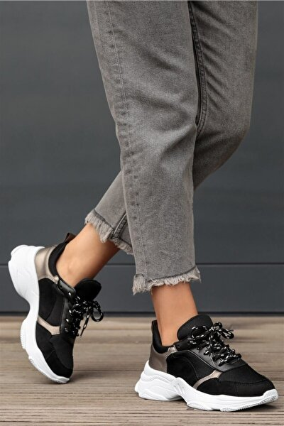 Greta Siyah Süet Sneaker