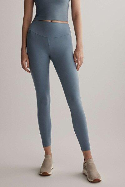 Kadın Mavi  Slim Fit Tayt