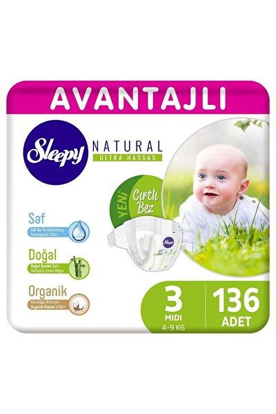 Natural Avantajlı Bebek Bezi 3 Numara Midi 136 Adet