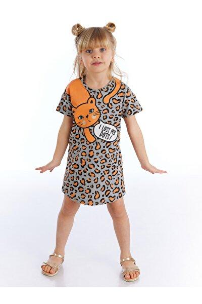 Kız Çocuk Gri Lost Leopar Elbise